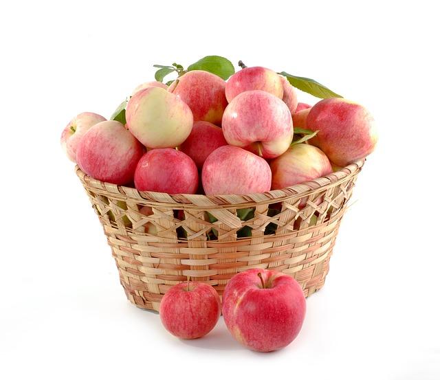 koš jablek