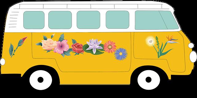 květinové auto