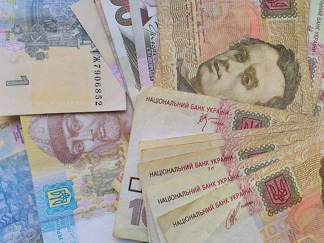bankovky – detail, Ukrajina